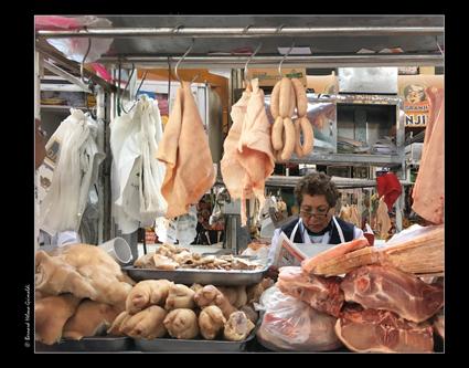 Arequipa - il Mercado, section viandes le 6 novembre 2017