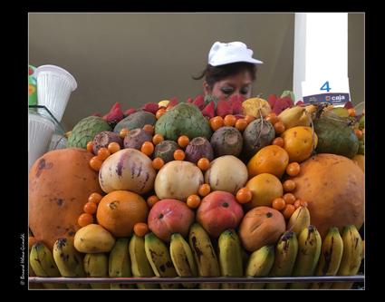 Arequipa, vendeuse jus de fruits, 6 novembre 2017