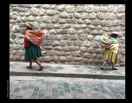 Cusco-Marchandes au retour de leur journée de travail, 10-11-17