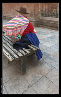 Cusco, Plaza de Arma, bouquet à vendre...le 11 novembre 2017
